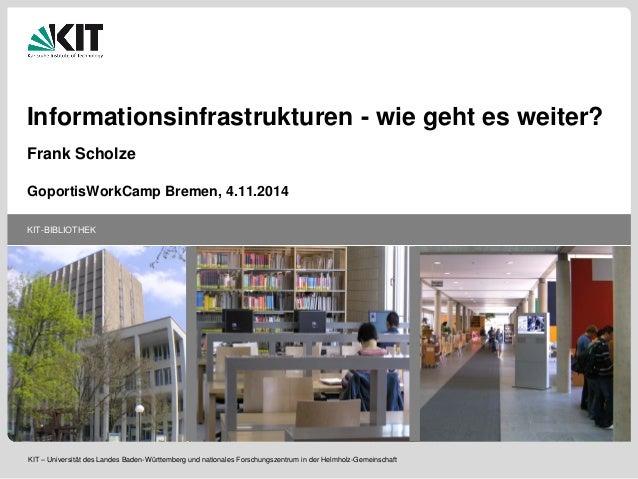 KIT-BIBLIOTHEK  KIT – Universität des Landes Baden-Württemberg und nationales Forschungszentrum in der Helmholz-Gemeinscha...