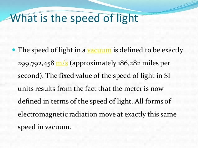 3 What Is The Speed Of Light