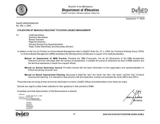 School based management manual jesli a lapussecretarydepartment of educationv 6 fandeluxe Gallery