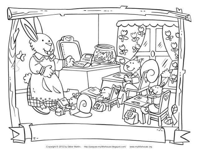Back to School Coloring Pages Slide 3