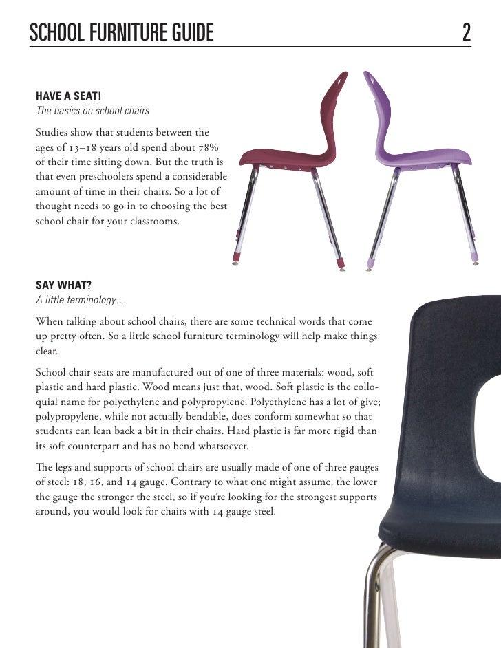 3  School Furniture. School Furniture Buying Guide