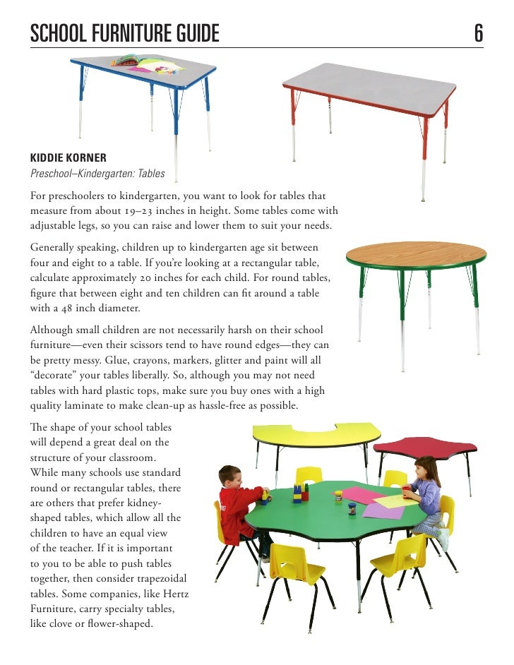 Classroom Furniture Design Standards ~ School furniture buying guide