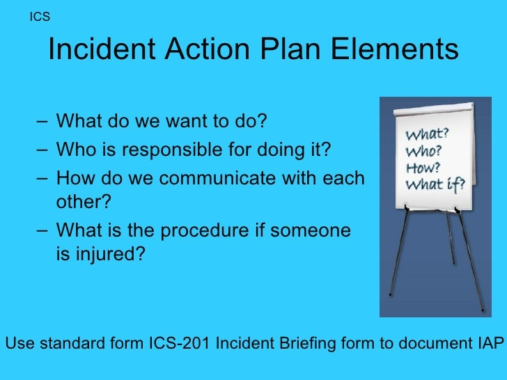 Incident Action Plan Template Incident Action Plan Template
