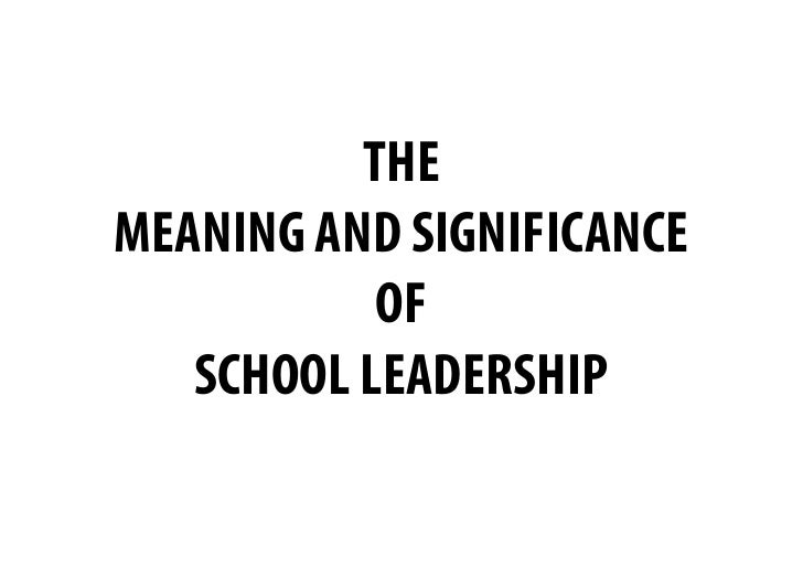 School Leadership Development