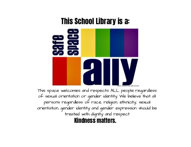 School library-safe space sign