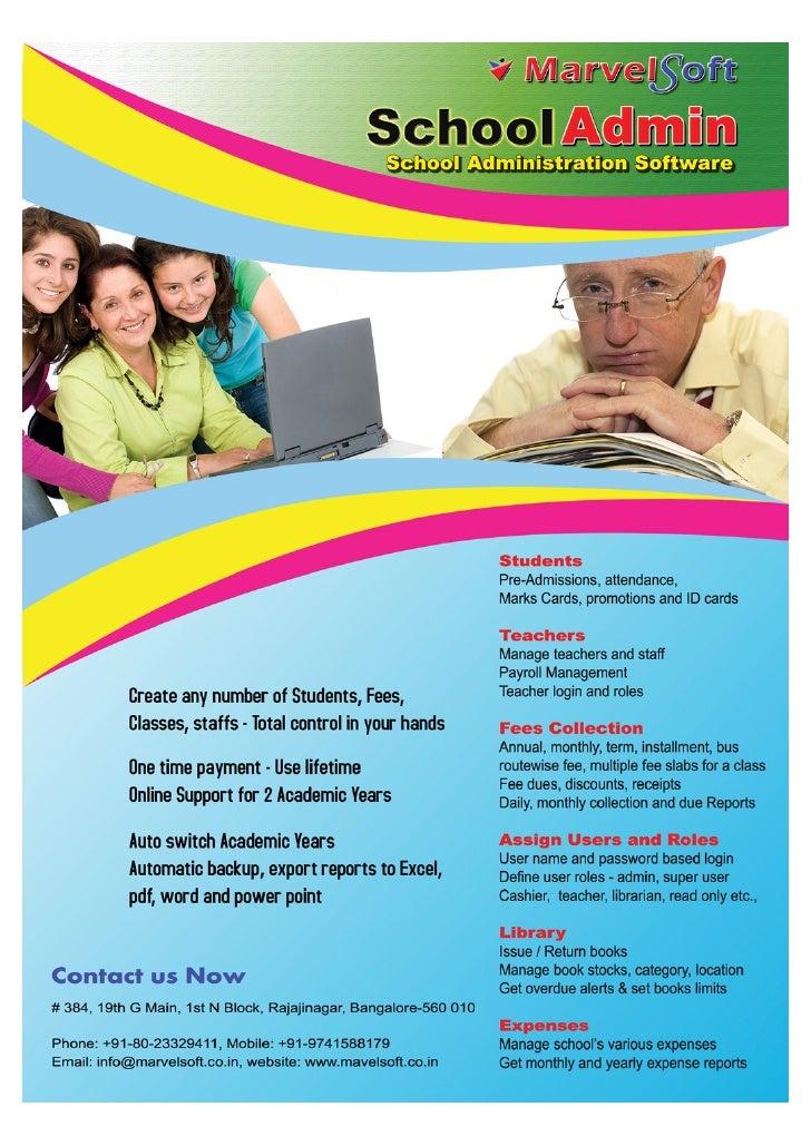 MarvelSoft School Software Features