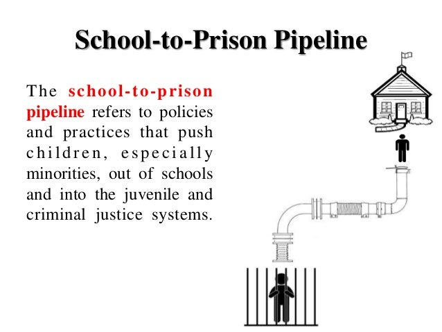 school to prison pipeline Hundreds of schools across america have their own police forces armed officers patrol corridors and playgrounds to keep order and protect teachers from the violent behaviour of some children but.
