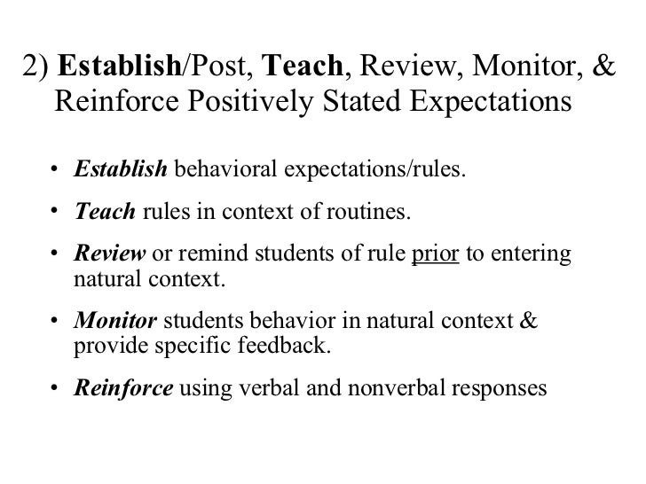 Classroom Part 1 School Wide Positive Behavior Support All Settings