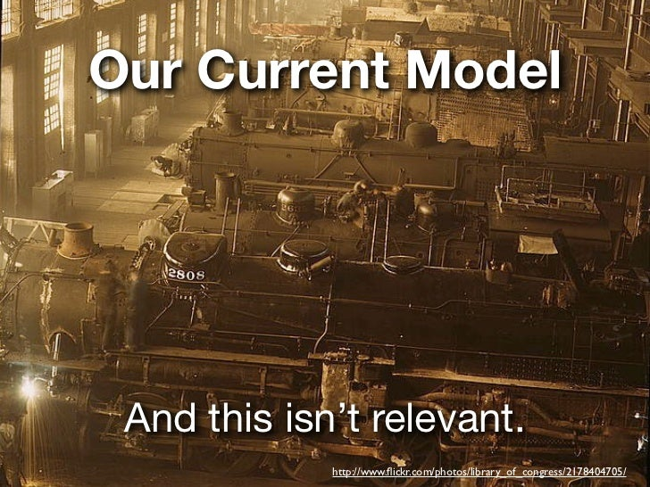 Our Current Model And this isn't relevant.             http://www.flickr.com/photos/library_of_congress/2178404705/