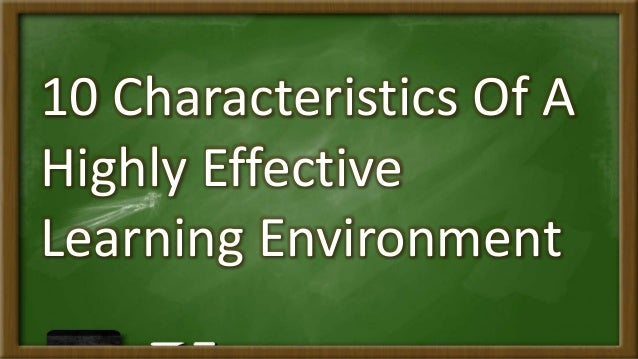 School as learning environment