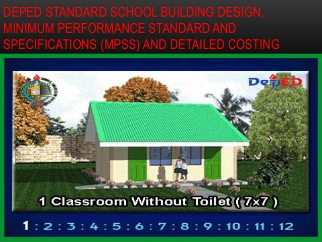 Deped Standard Classroom Design : School building