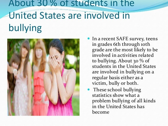 bullying in us schools Is racist bullying a problem in schools racist bullying in schools can be a problem in two ways: children who experience it have their education disrupted.