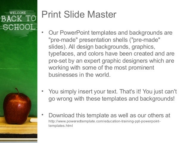 School Chalkboard PowerPoint Template by PoweredTemplate.com