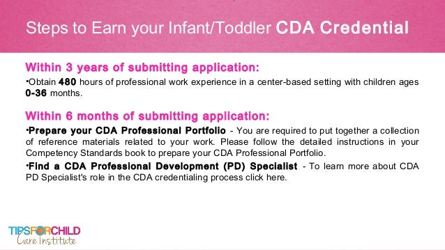 How To Earn Your CDA Online - CDA Courses, Portfolio and Exam Support