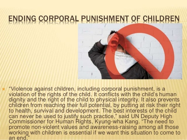 corporal punishment for children Corporal punishment is one the most commonly used discipline techniques for children, according to the american academy of pediatrics, even though it.