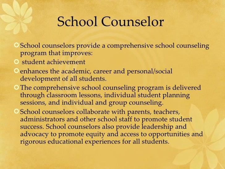 School Counselors and Teachers