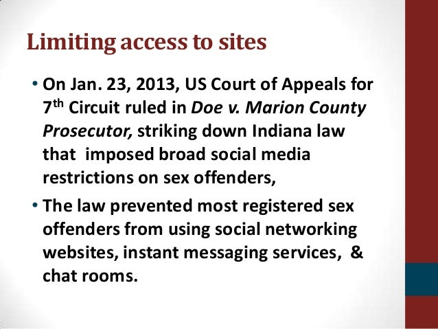 social network offender ruled unconstitutional