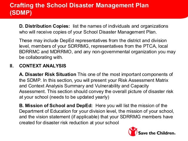 disaster management topics for 9th
