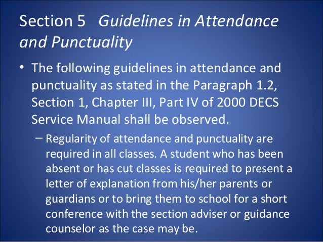 short note on punctuality