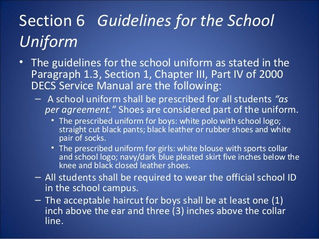 Whs procedures and guidelines primary school