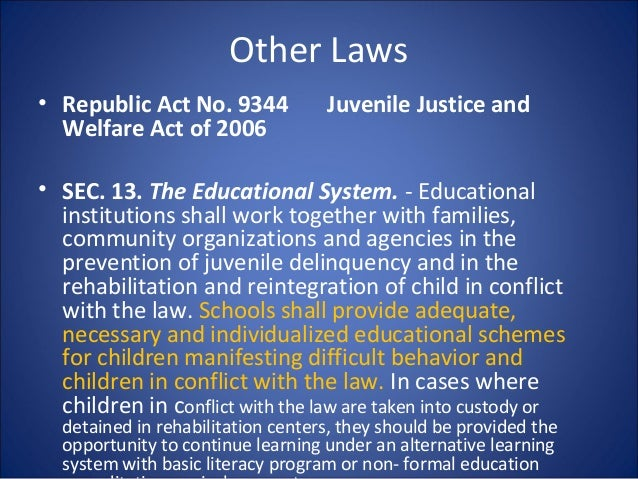republic act 9211 Specifically limits the employment of children below 15 years old, restricts the hours of work of working children, expands working children's access to education.