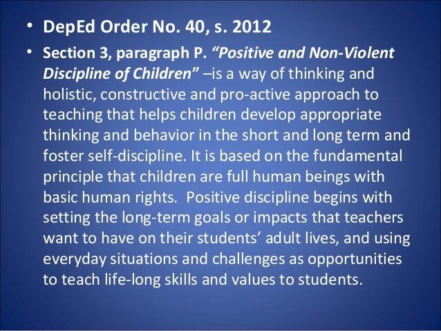 School discipline rules of procedure orethnic origin 39 deped fandeluxe Gallery