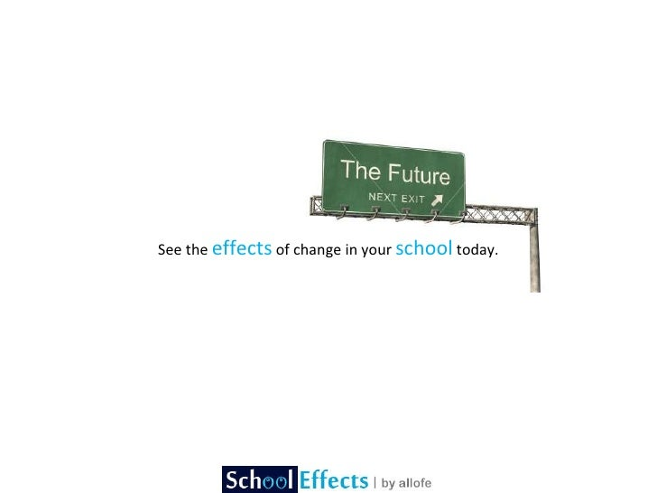 See the  effects  of change in your  school  today.