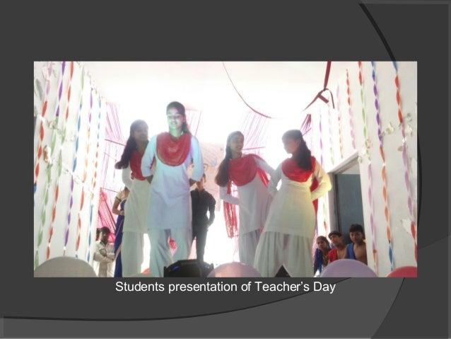 Students presentation of Teacher's Day