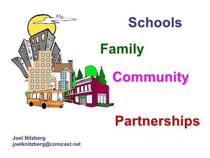 Partnerships Joel Nitzberg [email_address] Schools Family Community