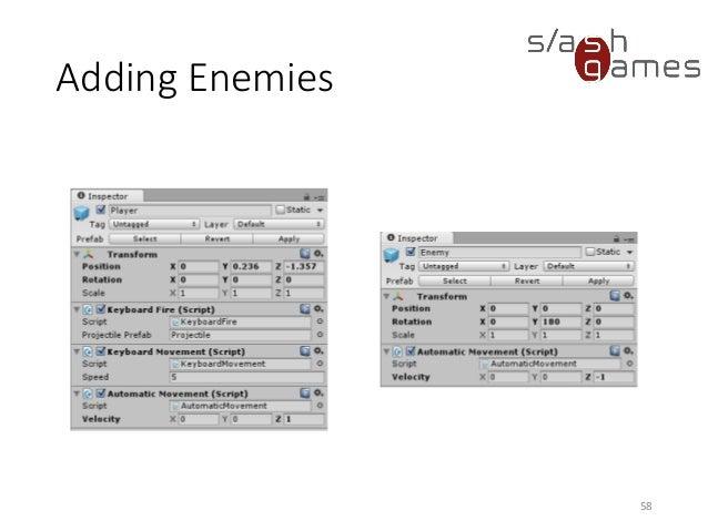 School For Games 2015 - Unity Engine Basics