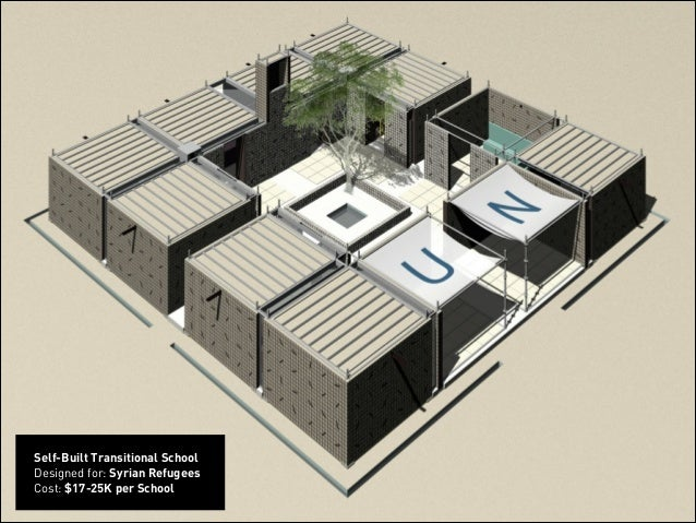 ! Self-Built Transitional School Designed for: Syrian Refugees Cost: $17-25K per School