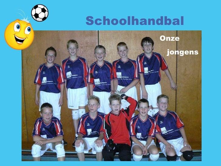 Schoolhandbal Onze jongens