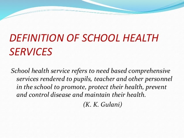 service quality for school medical services Cleaning standards meet the expectations of both the public and healthcare workers that health services are delivered safely and effectively.