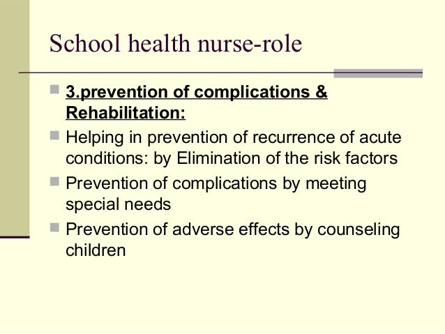 the role of the nurse in health education Nurse education in practice enables lecturers  education focused papers from other health care professions  their transition to a new role.