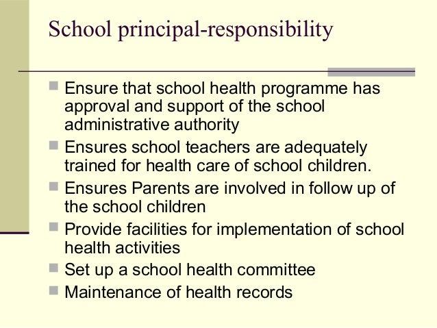 School health team & role of school health nurse