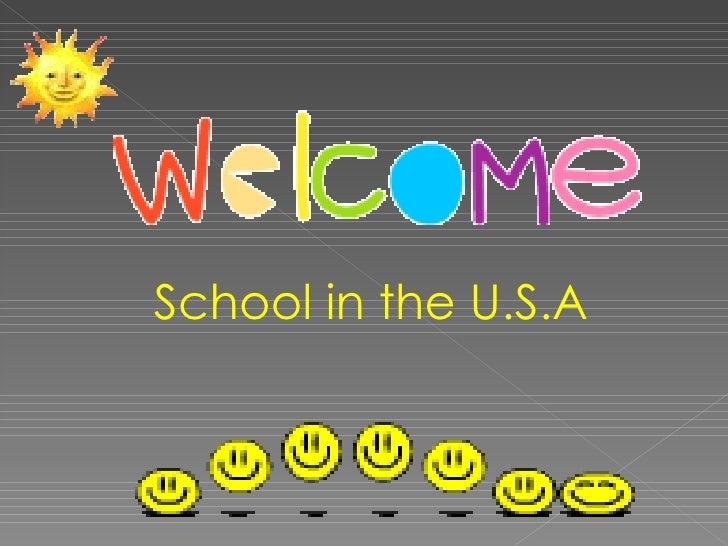 School in the U.S.A