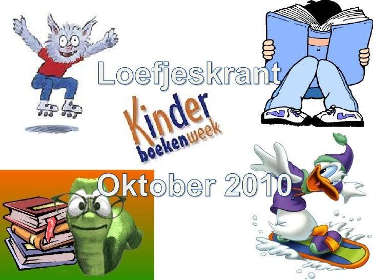 Loefjeskrant<br />Oktober 2010<br />