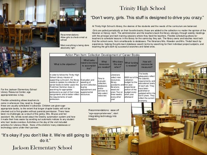 "Trinity High School                                                                                                 ""Don't..."
