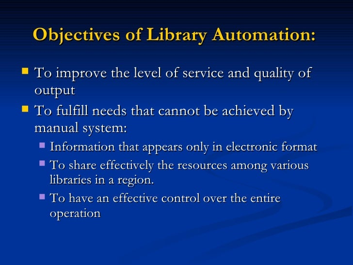 School library automation Slide 3