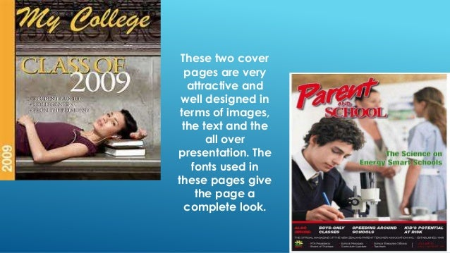how to make cover page for school magazine
