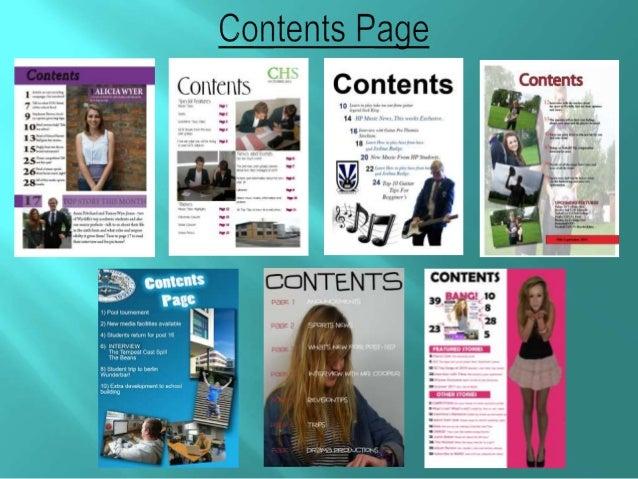 School Magazine Ideas