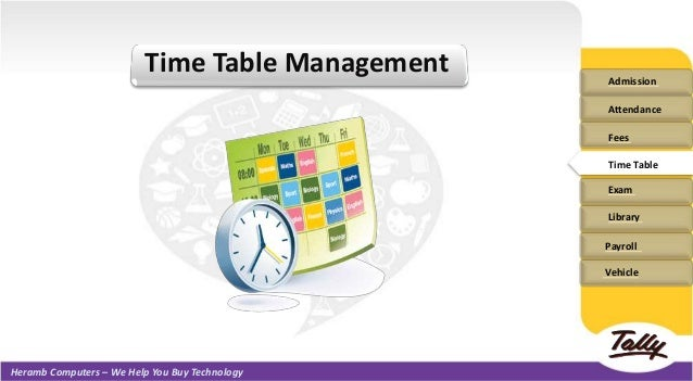School Collage Management Software Ppt - Table management software