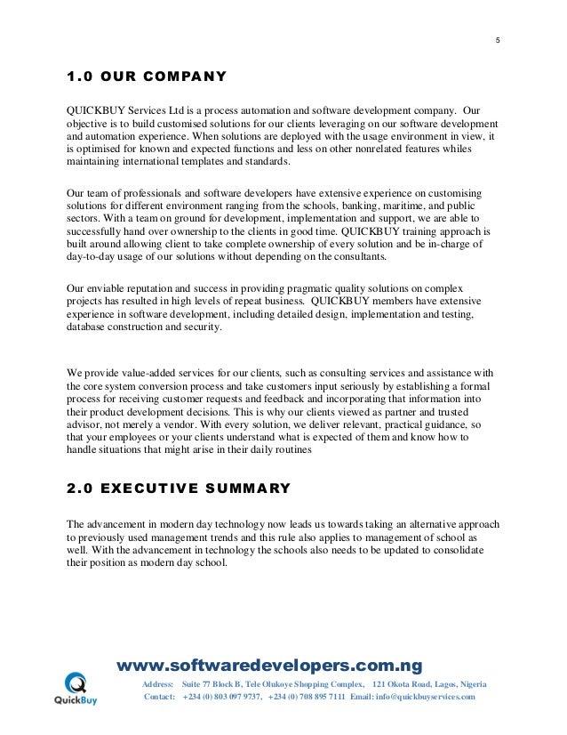 school management software proposal