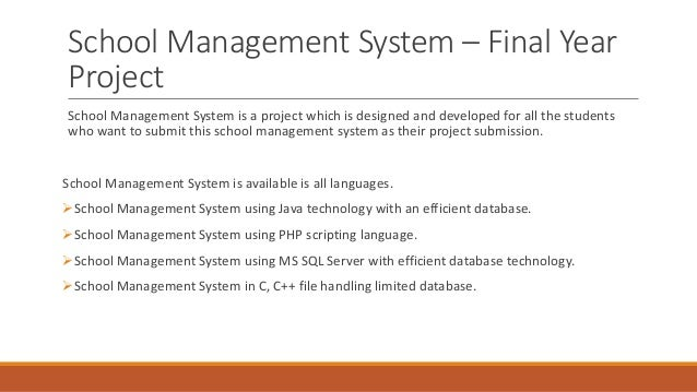 School Management System in MS Excel