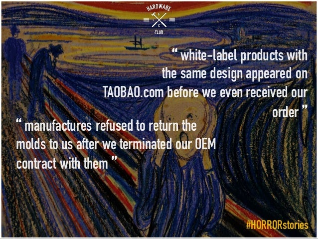 """"""" white-label products with the same design appeared on TAOBAO.com before we even received our order """" """" manufactures refu..."""