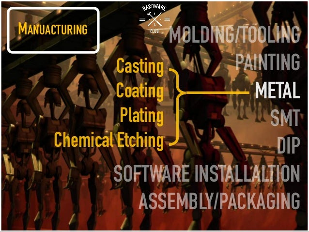 MANUACTURING MOLDING/TOOLING PAINTING METAL SMT DIP SOFTWARE INSTALLALTION ASSEMBLY/PACKAGING Casting Coating Plating Chem...