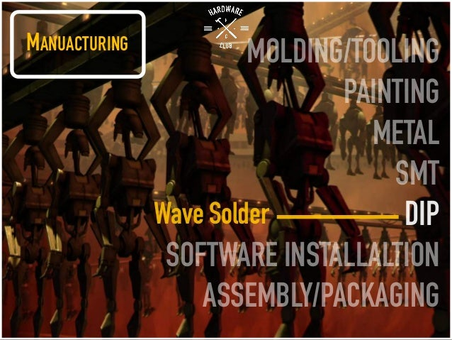 MANUACTURING MOLDING/TOOLING PAINTING METAL SMT DIP SOFTWARE INSTALLALTION ASSEMBLY/PACKAGING Wave Solder