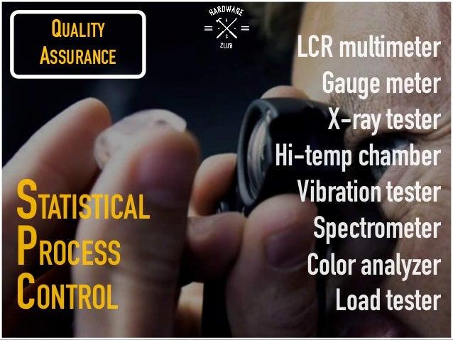 QUALITY ASSURANCE LCR multimeter Gauge meter X-ray tester Hi-temp chamber Vibration tester Spectrometer Color analyzer Loa...
