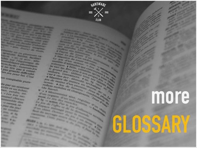 more GLOSSARY