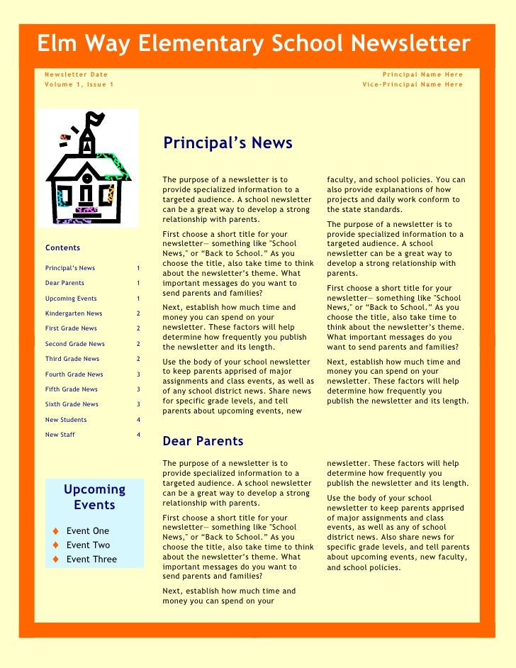 newsletter school